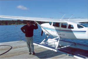 Allan Remnant  with his Cessna 206 Float Plane