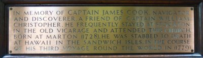 Plaque 1: Captain James Cook
