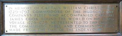 Plaque 2: Captain William Christopher