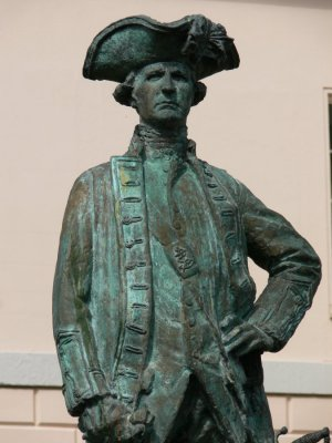 Captain Cook Statue at Greenwich