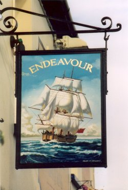 The ship  Endeavour
