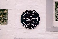 A close-up view of the plaque