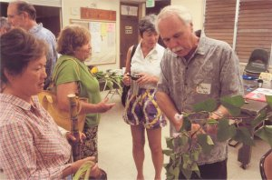 Peter Van Dyke with some plants of Hawai'i