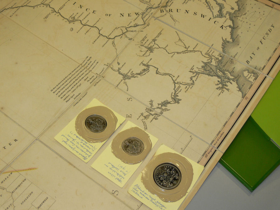 Impressions from some family seals and one of Hollands' published charts