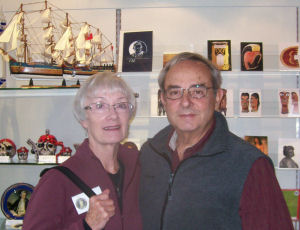Judy and Jerry Yucht in the museum's shop