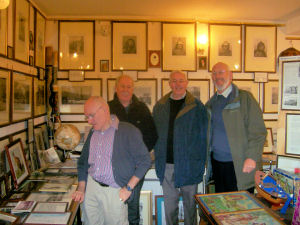 Steve Ragnall, Jeff Thomas, Bob Rawlinson and Chris North at Reg Firth's museum